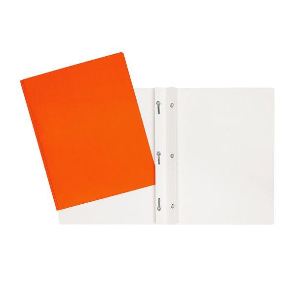 Couverture de présentation orange