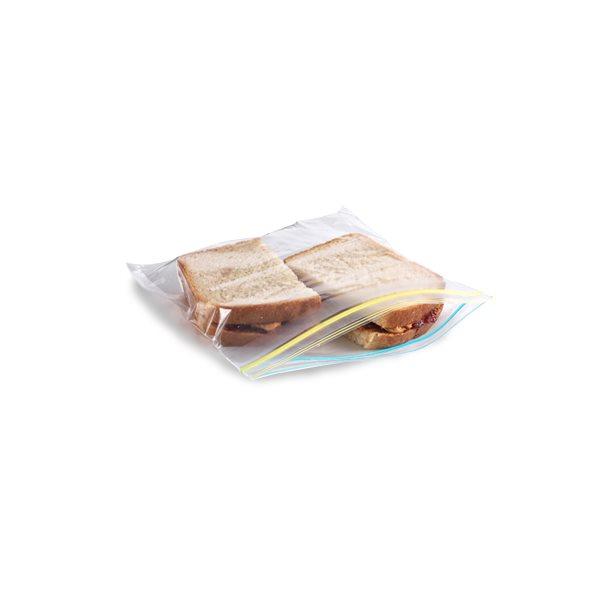 """Sac refermable Glad® Sandwich, 6 x 6"""", à l'unité"""