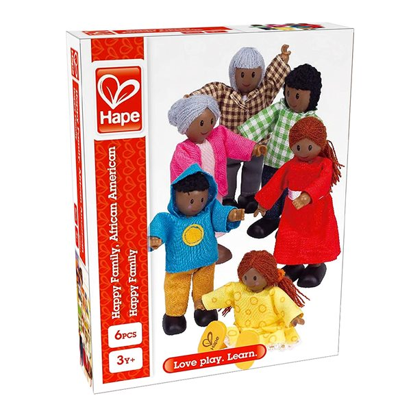 Figurines Famille moderne africaine
