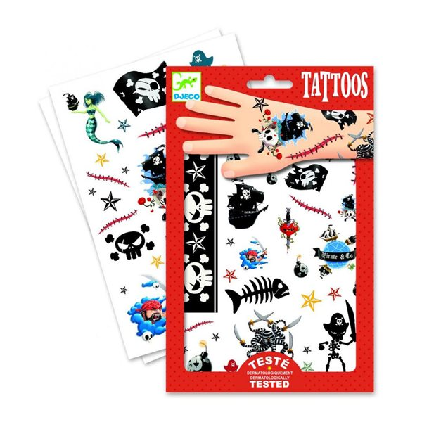 Tatouages temporaires - Pirates