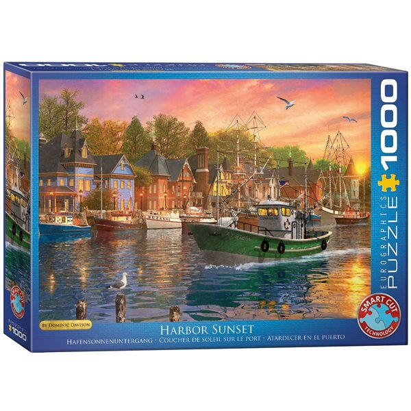 Casse-tête 1000 morceaux Harbor sunset