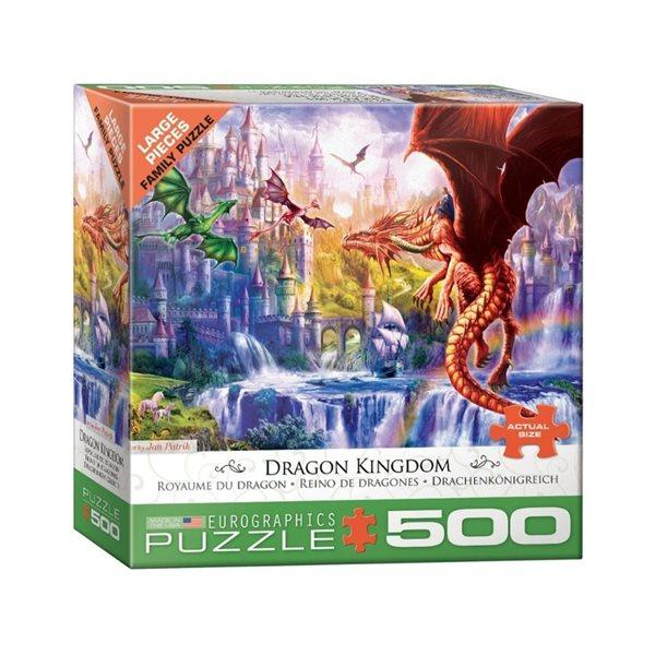 Casse-tête 500 morceaux Le royaume des dragons
