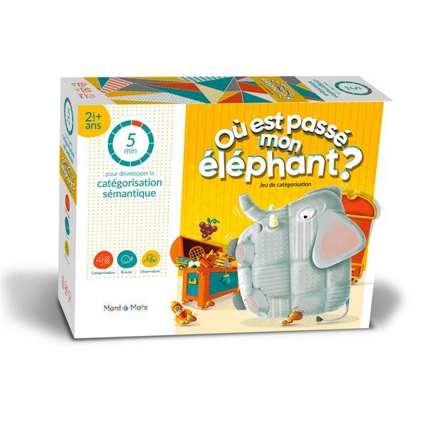 Jeu Mont-à-Mots 5 minutes Où est passé mon éléphant?