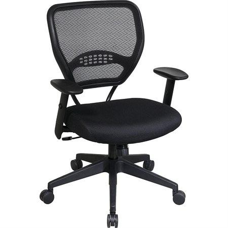 Fauteuil de direction professionnel AirGrid 5500 avec siège en tissu, noir