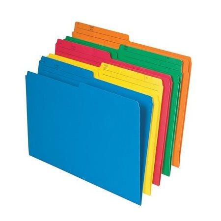 Chemise de format lettre couleur assortie