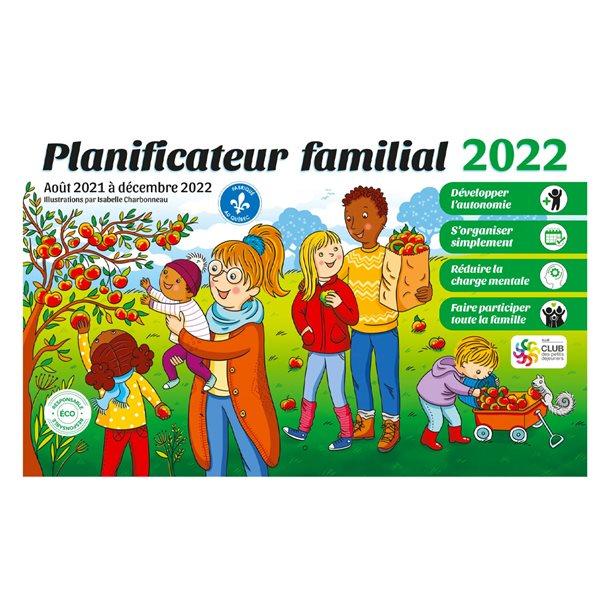 Planificateur familial 17 mois 2021-2022