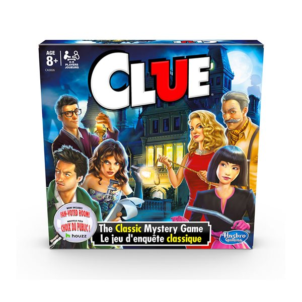 Jeu Clue, le jeu d'enquête – nouvelle version