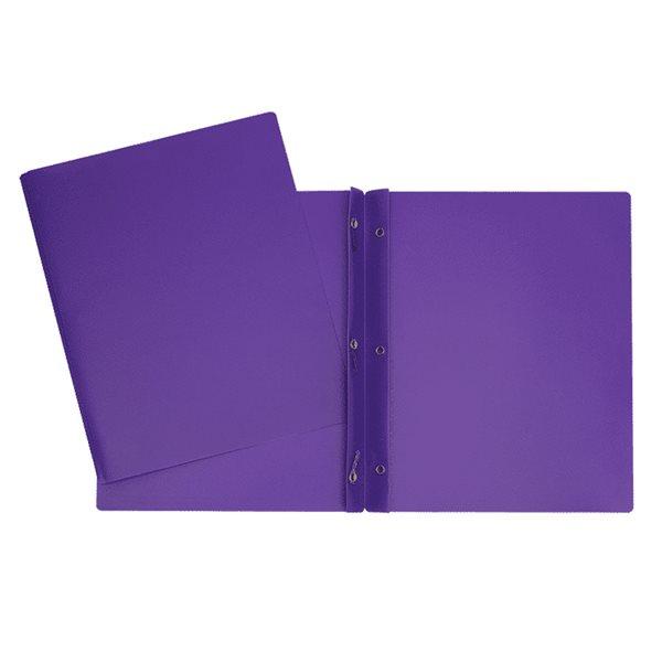 Couverture de présentation poly avec attaches violet