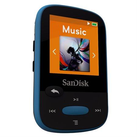 LECTEUR MP3 SANDISK 8GO BLEU CLIP SPORT
