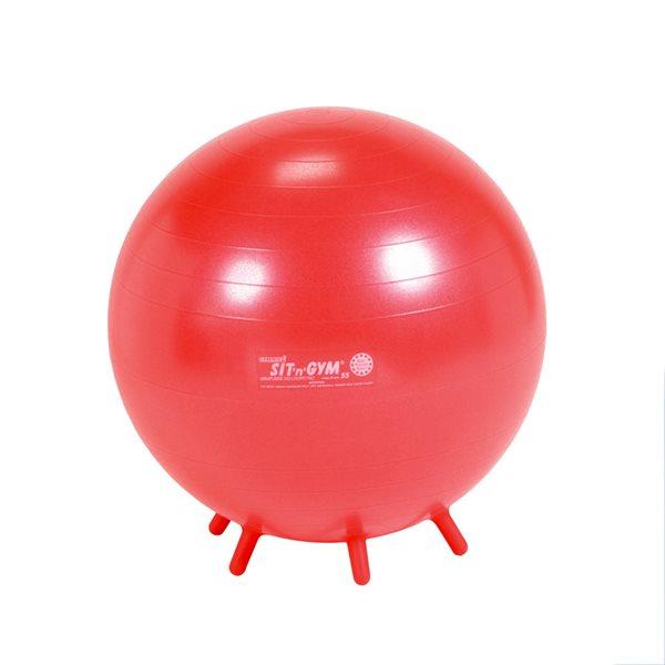 Ballon Sit'n'gym Junior 55 cm (rouge)