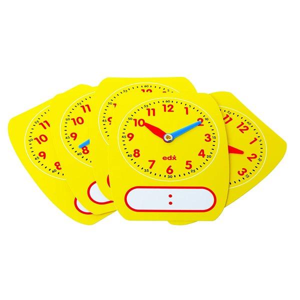 Horloge inscriptible et effaçable
