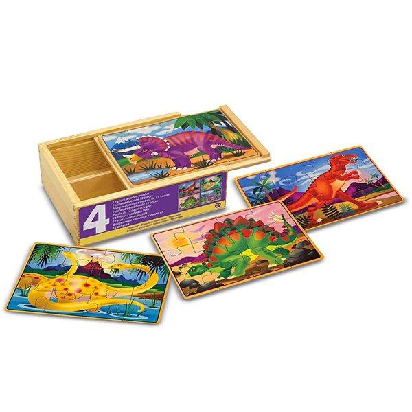 Casse-tête en bois 12 morceaux Dinos