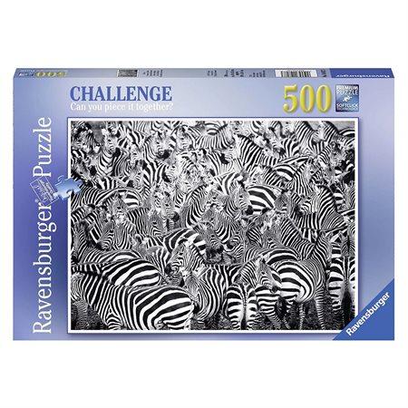 Casse-tête 500 morceaux Challenge zèbres