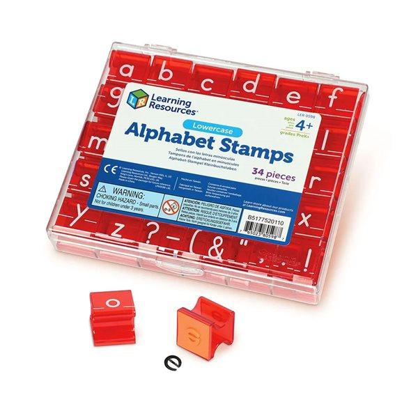 Tampons de l'alphabet en minuscules
