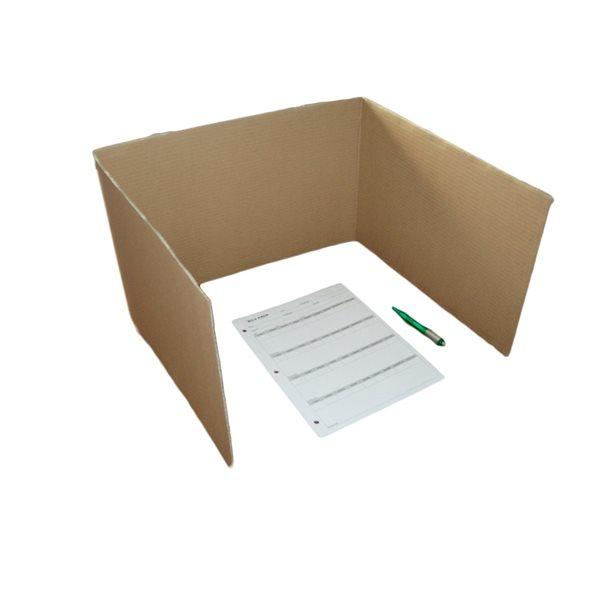 Isoloir en carton