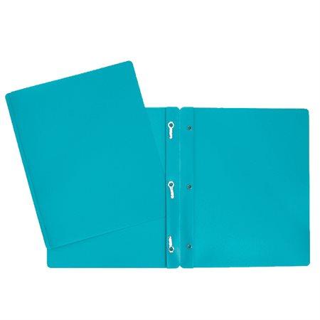 Couverture de présentation poly avec attaches turquoise
