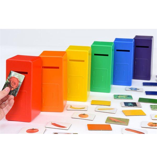 Jeu de boîte aux lettres des couleurs