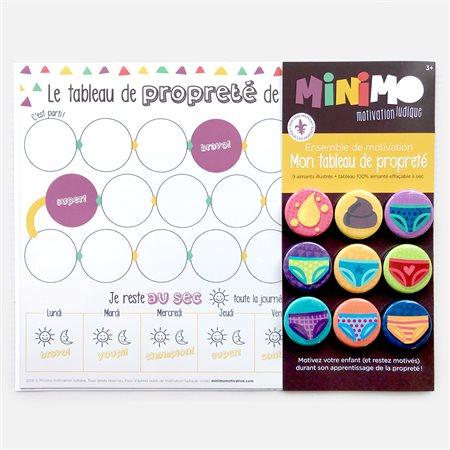 MON TABLEAU DE PROPRETÉ 9 AIMANTS