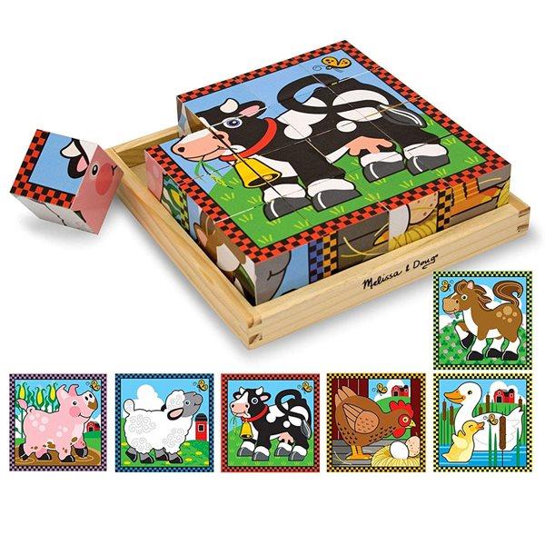 Casse-tête Cubes en bois 16 morceaux La Fer
