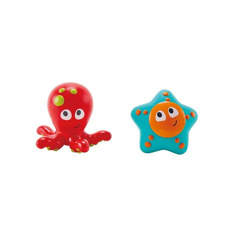 Duo de bain - Pieuvre et étoile de mer