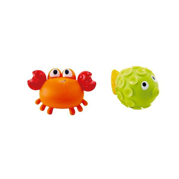 Duo de bain - Crabe et poisson