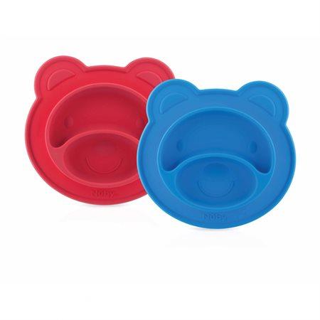 Assiette à compartiments Sure Grip ourson