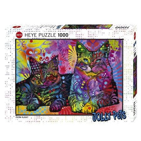 Casse-tête 1000 morceaux Chats colorés