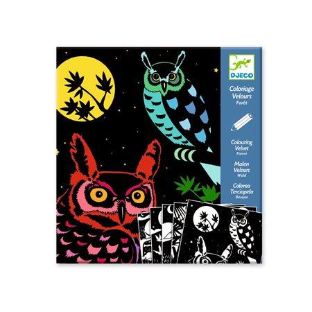 Coloriage velours- La forêt