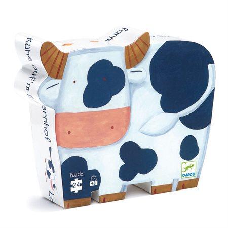 Casse-tête 24 morceaux Les vaches à la ferme