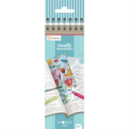 Marque-pages Graffy Bookmarks Mandala / Fleurs