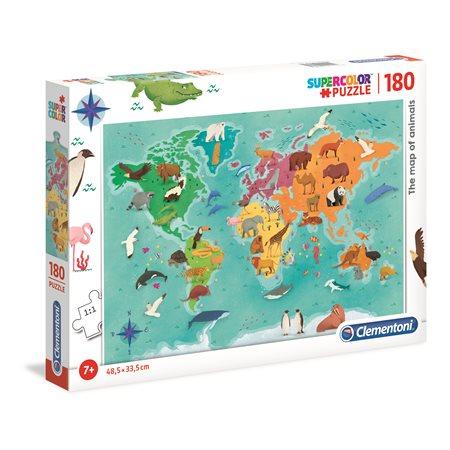 Casse-tête 180 morceaux Animaux du monde