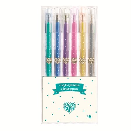 6 crayons gel paillettés - Lovely Paper