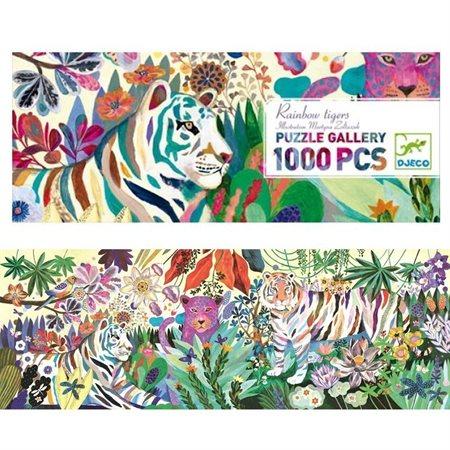 Casse-tête 1000 morceaux Rainbow tigers