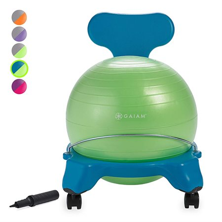 CHAISE BALLON JUNIOR BLEUE / VERTE