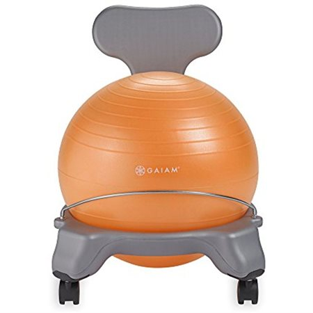 CHAISE BALLON JUNIOR GRISE / ORANGE