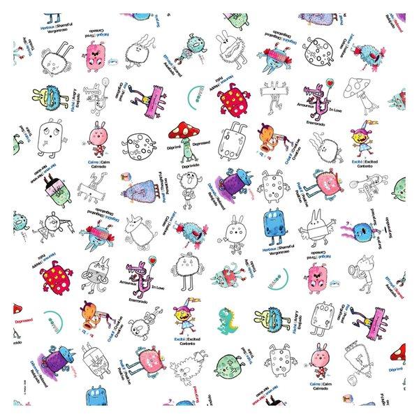 Nappe à colorier Les émotions - 152 x 229 cm