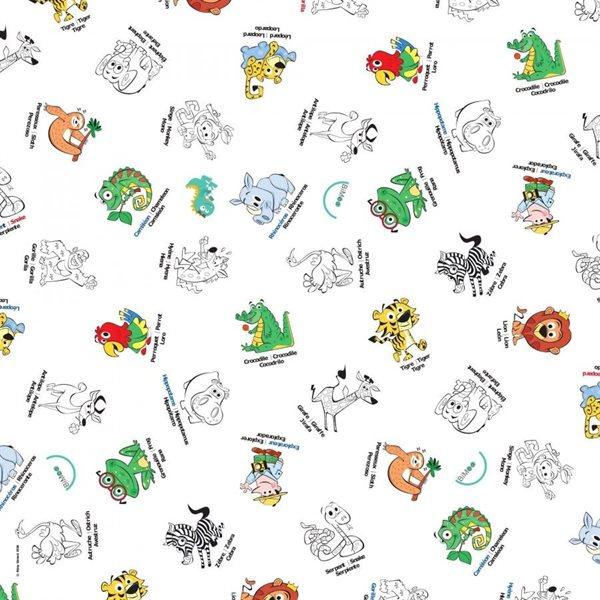 Nappe à colorier La jungle - 114 x 114 cm