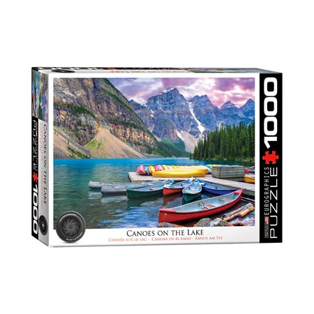 Casse-tête 1000 morceaux Canoës sur le lac