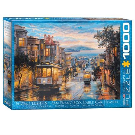 Casse-tête 1000 morceaux Tramway de San Francisco