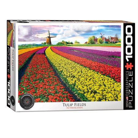 Casse-tête 1000 morceaux Champ de tulipes