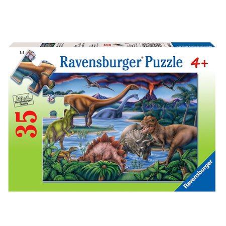 Casse-tête 35 morceaux Jardin de dinosaure