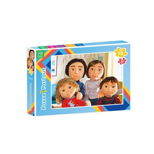 Casse-tête 70 morceaux La famille de marionnettes