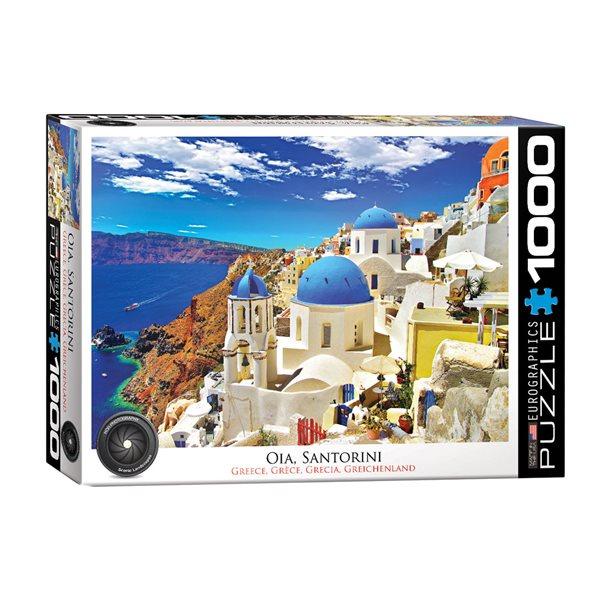 Casse-tête de 1000 morceaux Oia Santorini