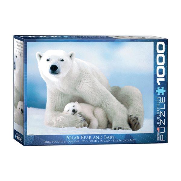 Casse-tête de 1000 morceaux Ours polaire et ourson