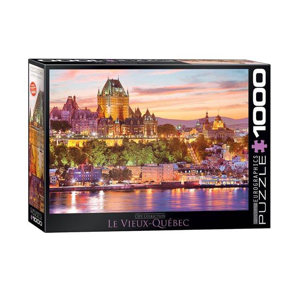 Casse-tête de 1000 morceaux Le Vieux Québec