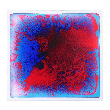 Tuile liquide sensorielle Bleu - rouge