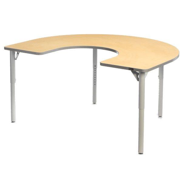 Table Aktivity en C 36x60 érable / gris foncé
