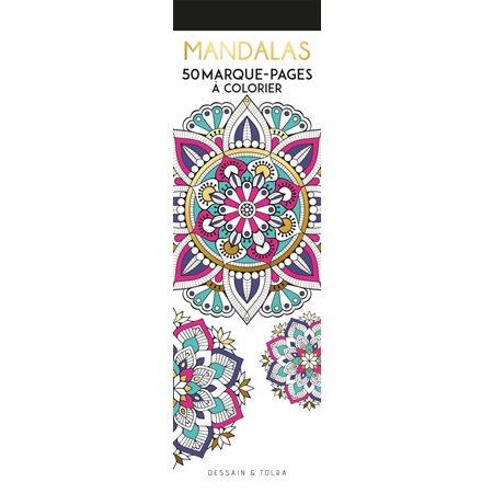 Mandalas : 50 marque-pages à colorier