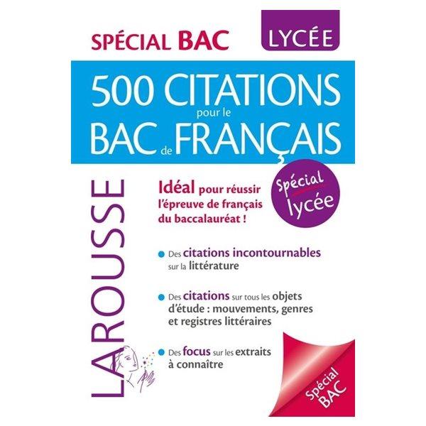 500 citations pour le bac de français