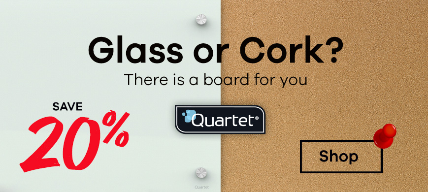 Quartet boards cork and glass